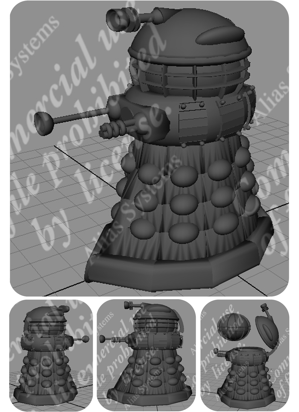 Modular digital Dalek (Doctor Who) design by Bruce Whistlecraft, Doktor A.