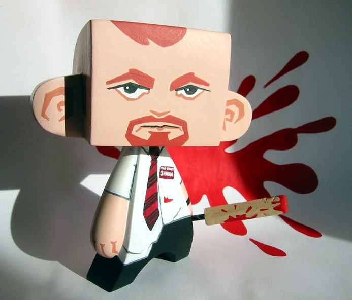 Shaun of the Dead vinyl toy custom by Doktor A.
