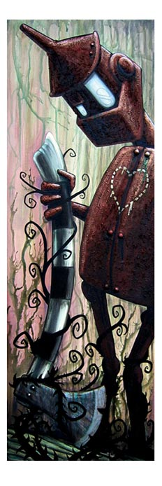 Tin Woodsman, Wizard of Oz painting by Doktor A. Bruce Whistlcraft.