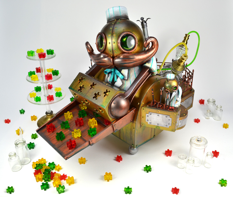 Candy machine factory Mechtorian sculpture by Doktor A.