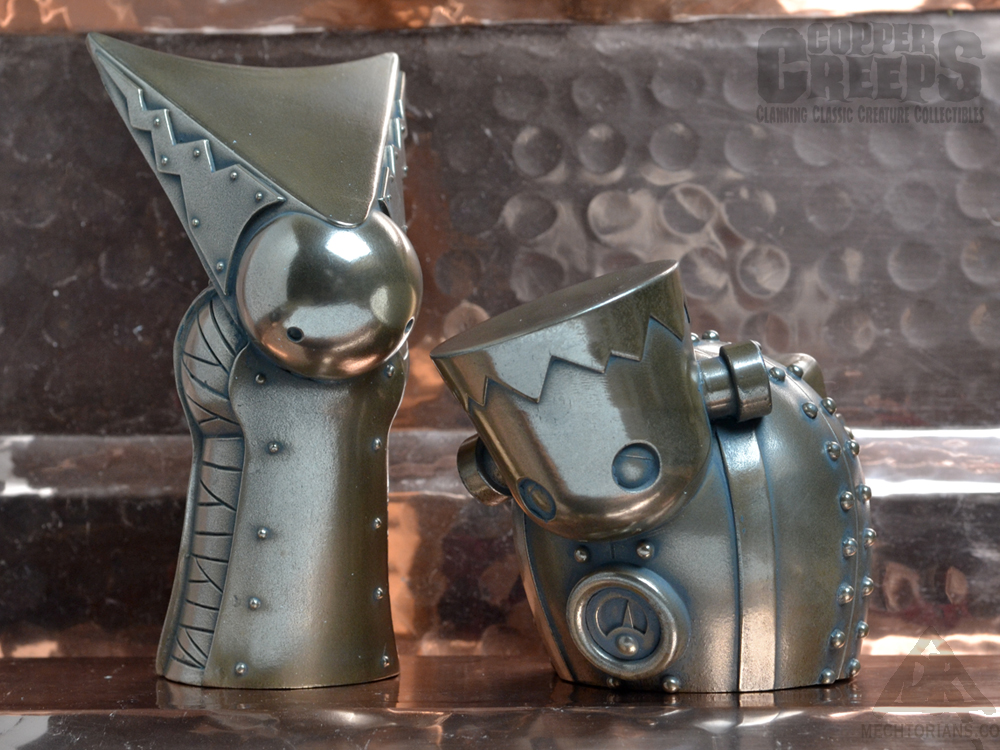 Copper Creeps Monster Robot figures by Doktor A.