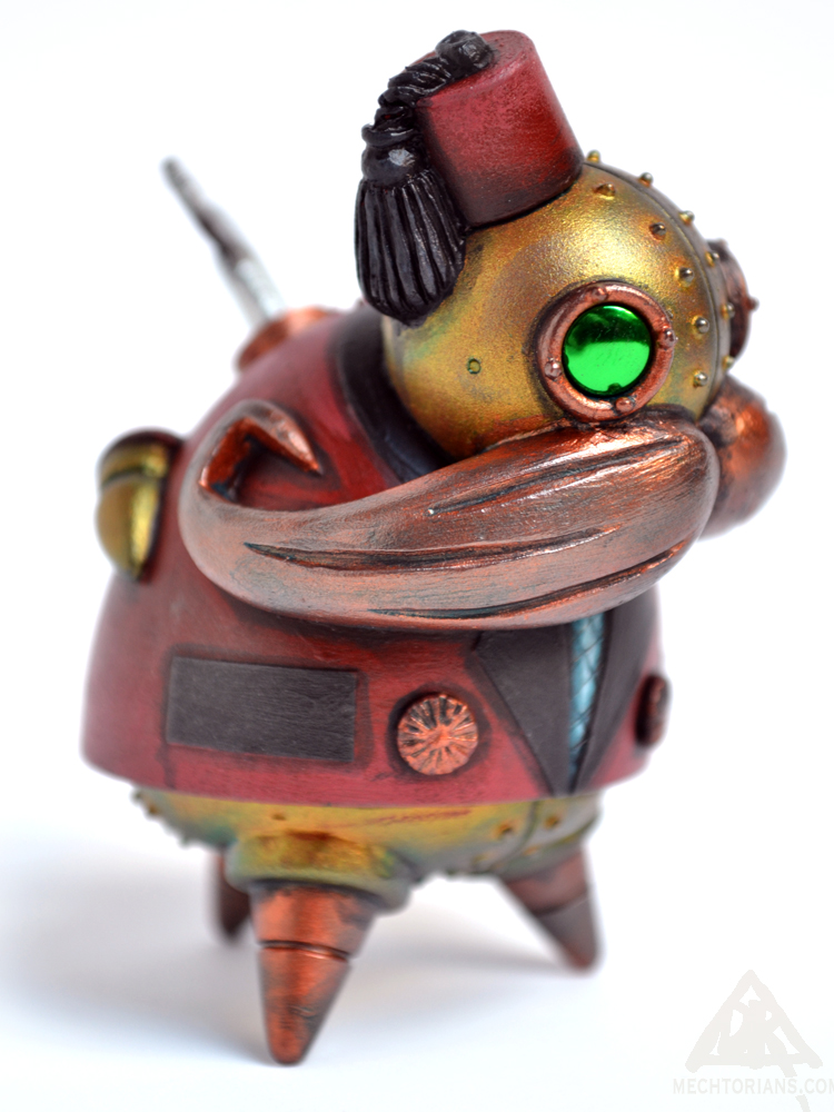 Todd Morden Resin Mechtorian robot figure by Doktor A. Bruce Whistlecraft for Designer Con 2015.