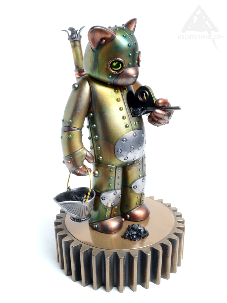 "Steam Powered ""Mechanics of Life"" collaboration with Luke Chueh and Doktor A, Bruce Whistlecraft. Target Bear figure from Munky King."