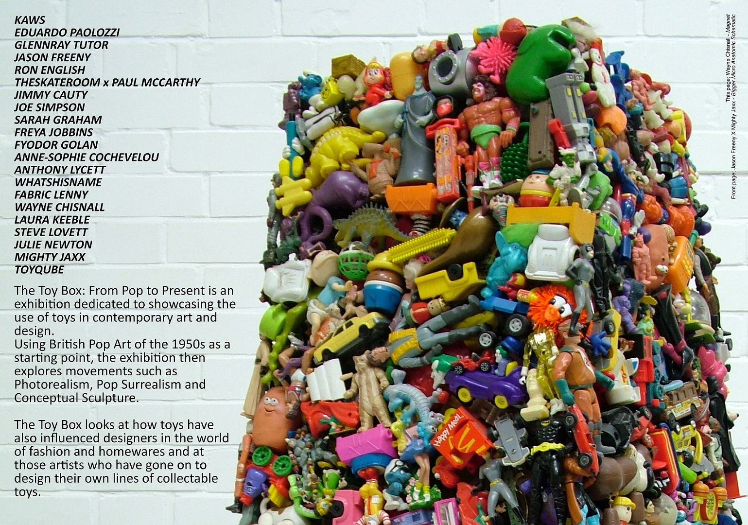 The Toy Box from pop to Present exhibition Barnsley UK