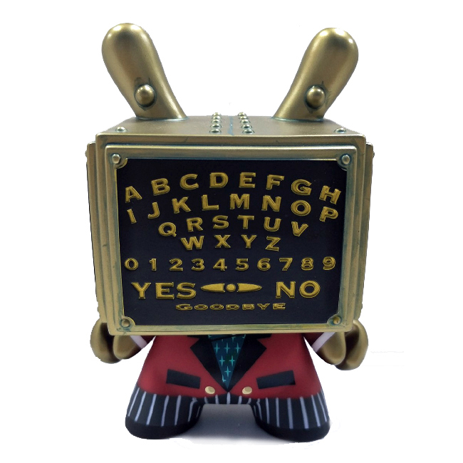 "Ouija Talking Board 5"" Dunny by Kidrobot and Bruce Whistlecraft Doktor A. Mechtorian Vinyl Toy."