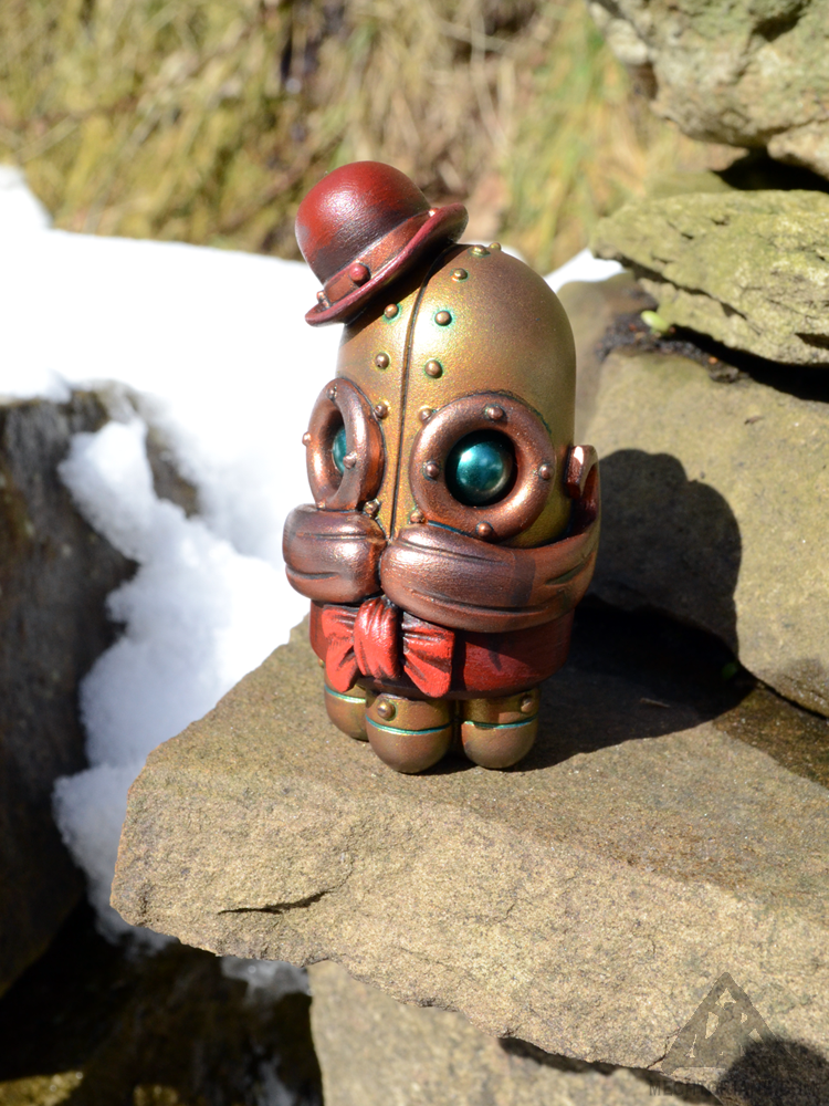 Blinky Allsop mini Mechtorian resin figure by Doktor A, Bruce Whistlecraft.