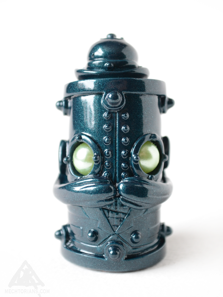 Toycon Teal Stumpy Warburton Mechtorian figure by Doktor A.