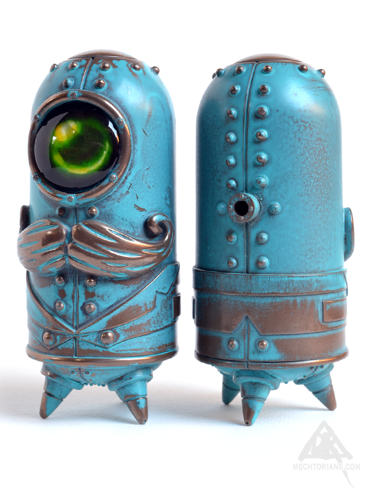 Cymon Clops resin Mechtorian figure from Doktor A. Bruce Whistlecraft. Verdigris edition.