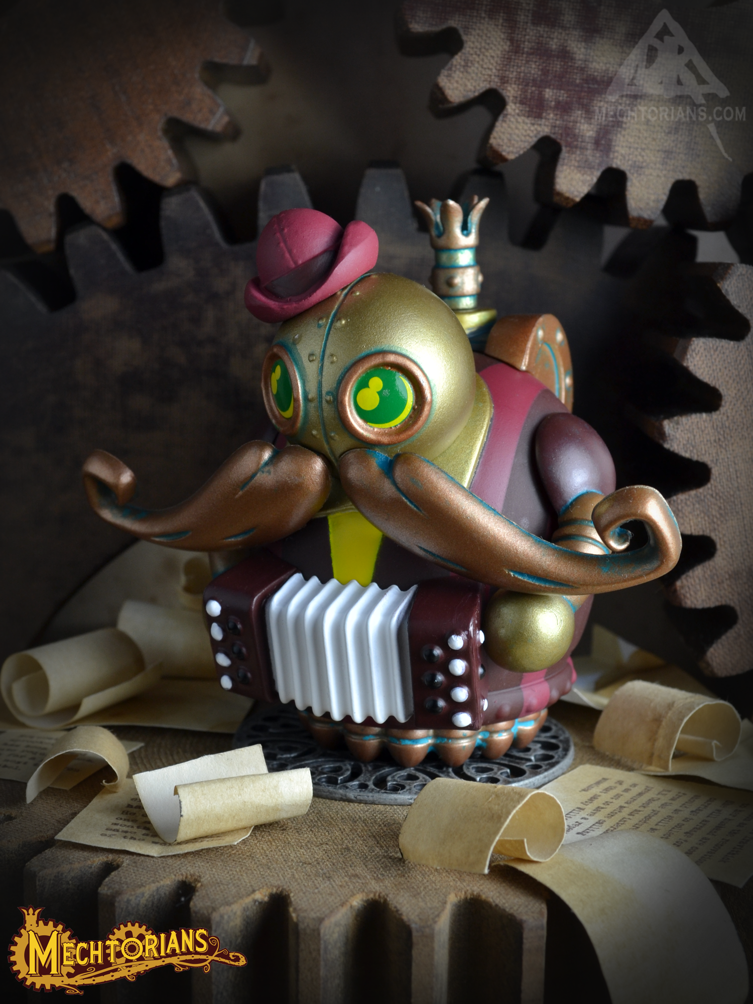 Doktor A's Mini Mechtorians vinyl figure Series 2 with Kidrobot. Maurice Jaques.