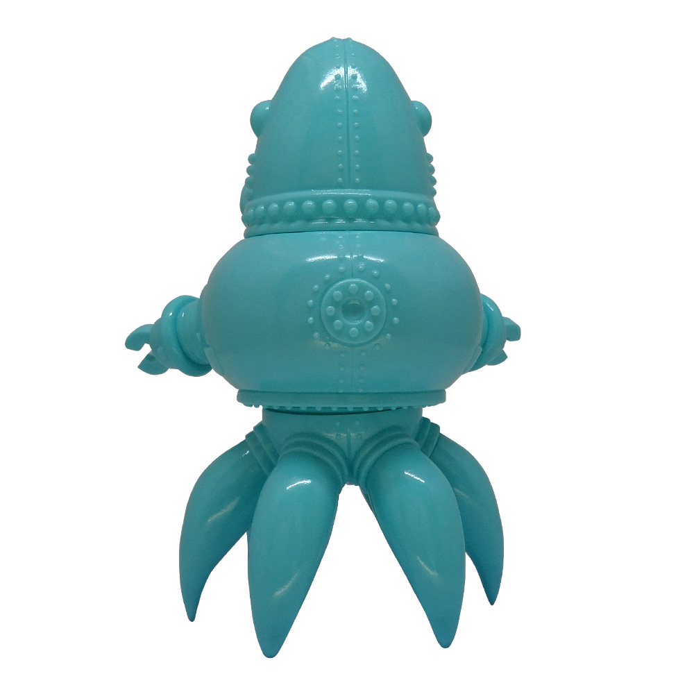 Thomas Nosuke Sofubi Robot Toy by Tomenosuke and Doktor A. Tiffany Blue edition.