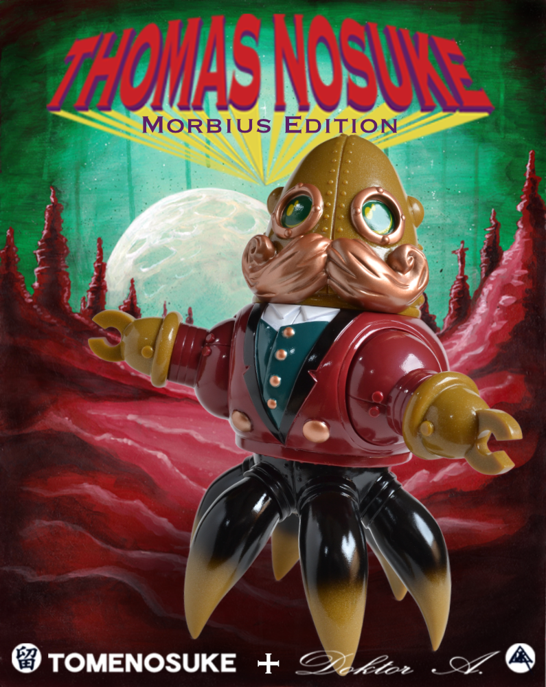 Morbius Red Edition Thomas Nesuke sofubi toy by Doktor A and Tomenosuke