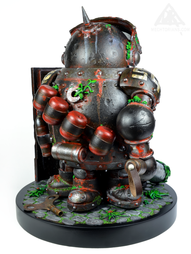 Obsolescent. A Mechtorian, Anti Police brutality toy art work by Doktor A - Bruce Whistlecraft.