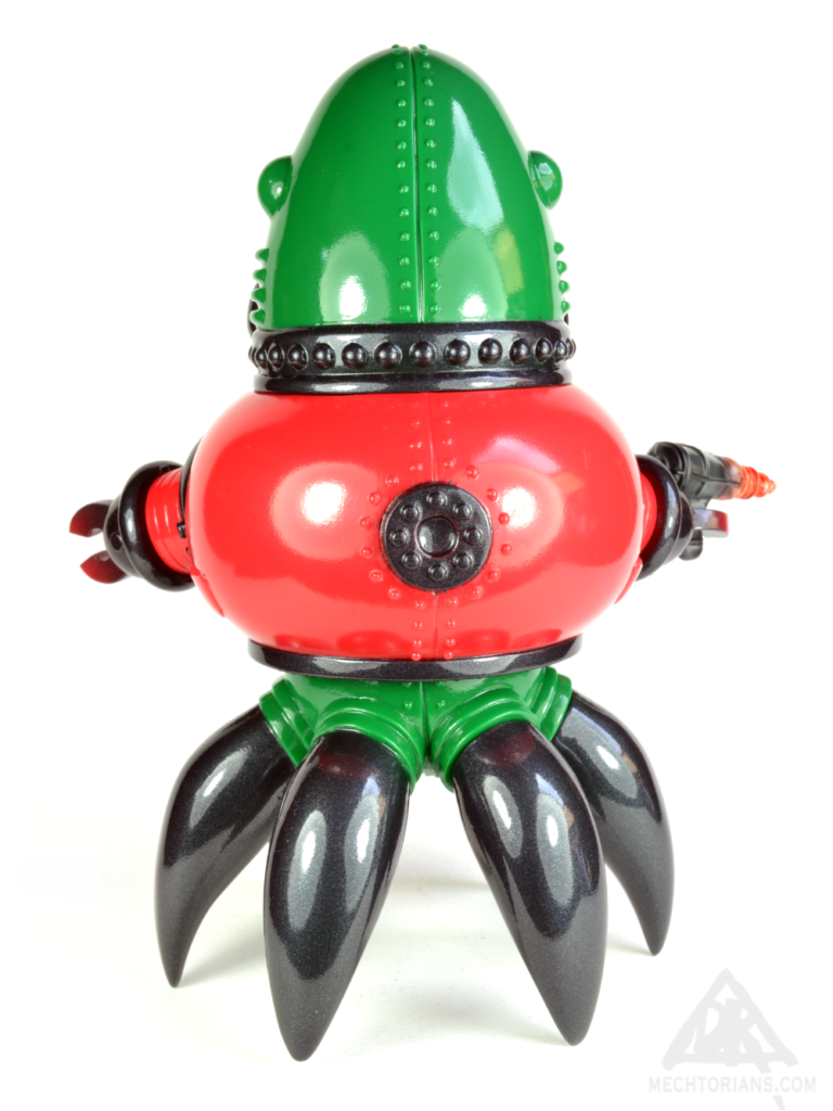Custom Painted Thomas Nosuke sofubi Mechtorian toy by Doktor A.