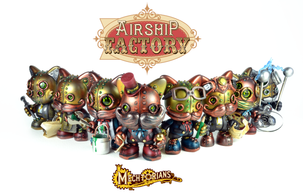 The Airship Factory Mechtorian custom Janky toy series by Doktor A. Bruce Whistlecraft.